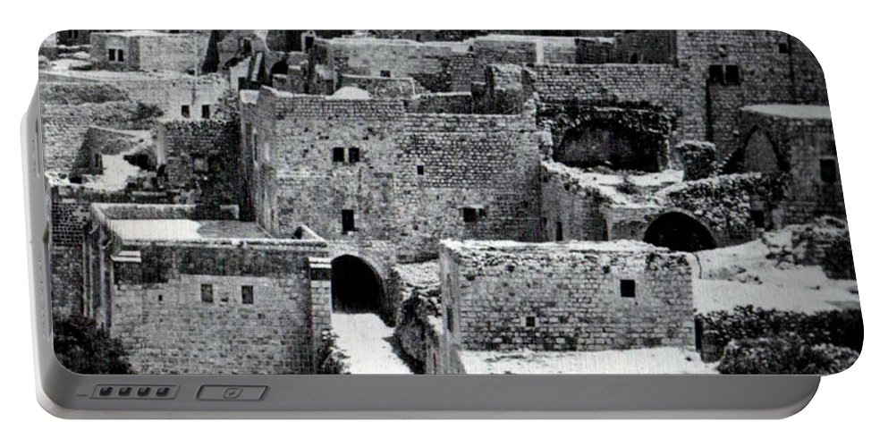 Bethlehem Portable Battery Charger featuring the photograph Holy Road by Munir Alawi
