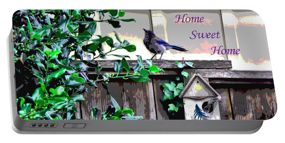Bird Portable Battery Charger featuring the photograph Home Sweet Home 1 by Joyce Dickens