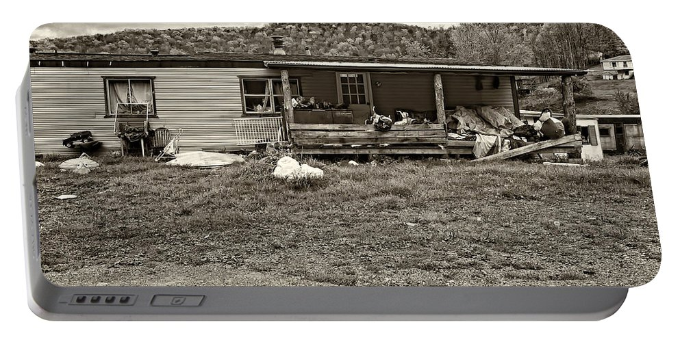 West Virginia Portable Battery Charger featuring the photograph Home Sweet Home Sepia by Steve Harrington