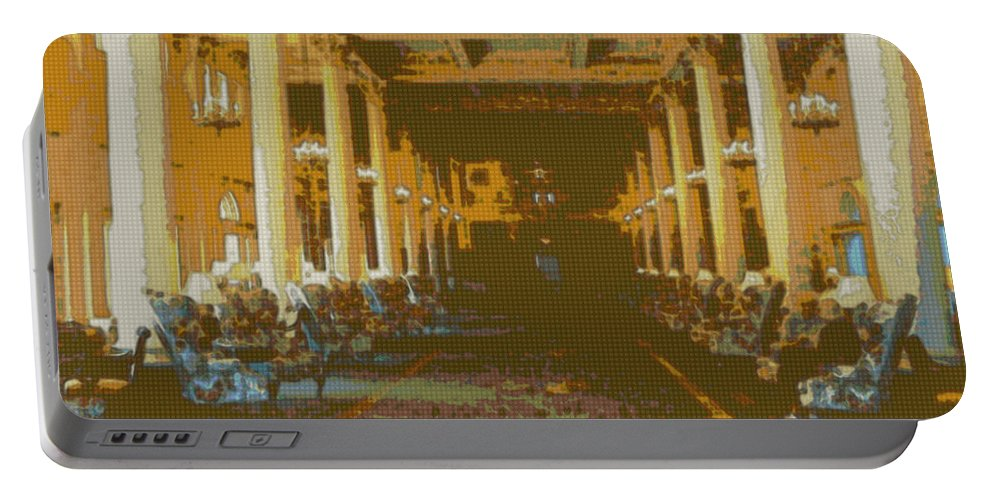 Interior Design Portable Battery Charger featuring the photograph Homestead Lobby by Paulette B Wright