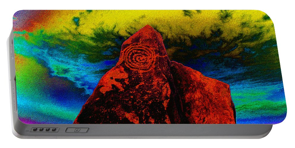 Art Portable Battery Charger featuring the painting Hopi Sky by David Lee Thompson