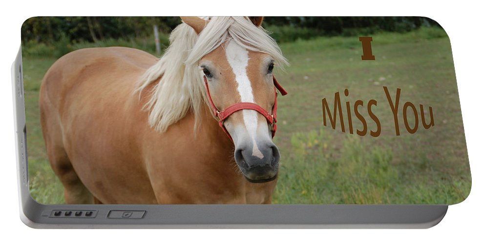 Horse Portable Battery Charger featuring the photograph Horse Miss You by Aimee L Maher ALM GALLERY