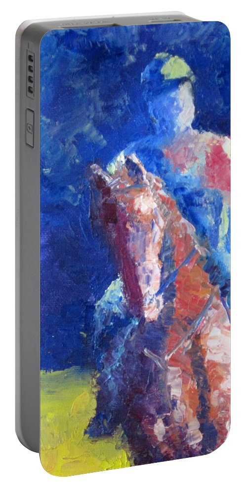 Horse Rider Portable Battery Charger featuring the painting Horse Rider by Terry Chacon