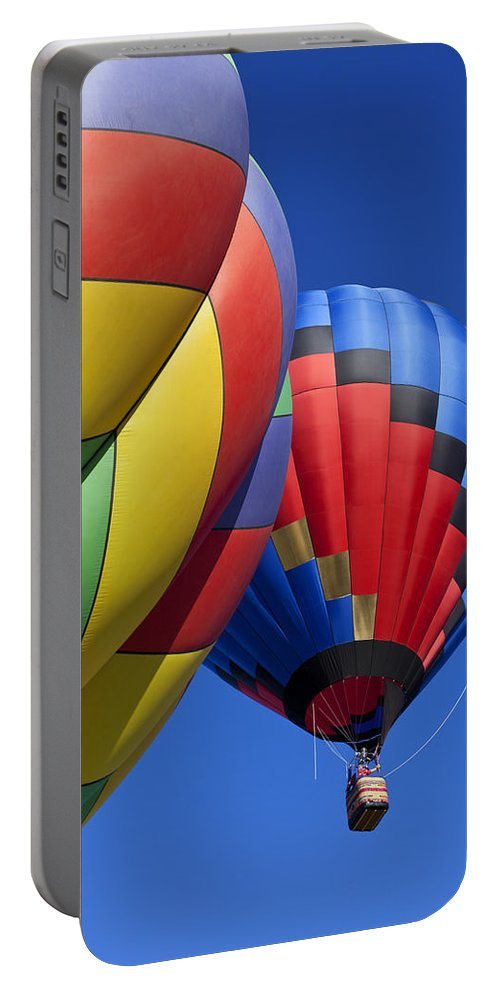 Hot Air Balloon Portable Battery Charger featuring the photograph Hot Air Ballons by Garry Gay