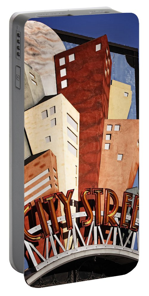 Sign Portable Battery Charger featuring the photograph Hot City Streets by Joan Carroll