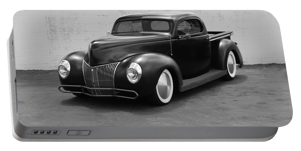 Hot Rod Portable Battery Charger featuring the photograph Hot Rod Pick Up by Rob Hans