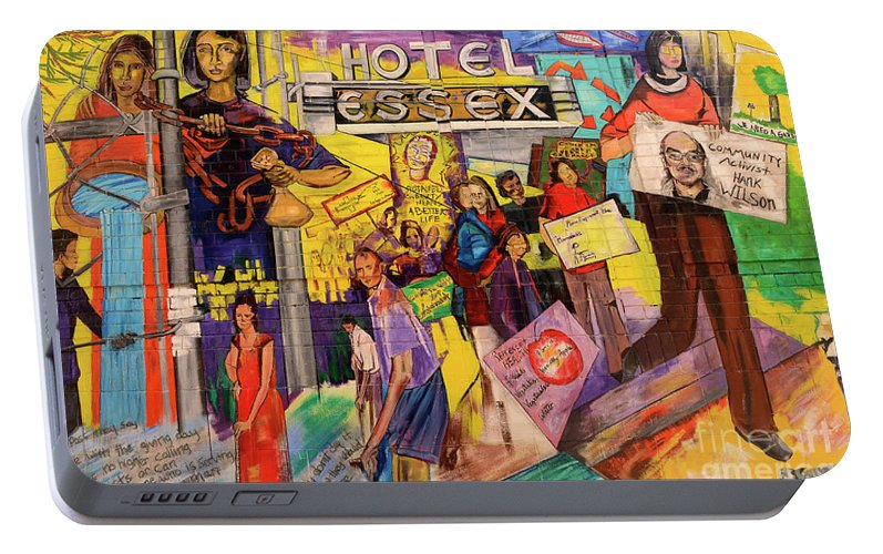San Francisco Portable Battery Charger featuring the photograph Hotel Essex by Bob Christopher