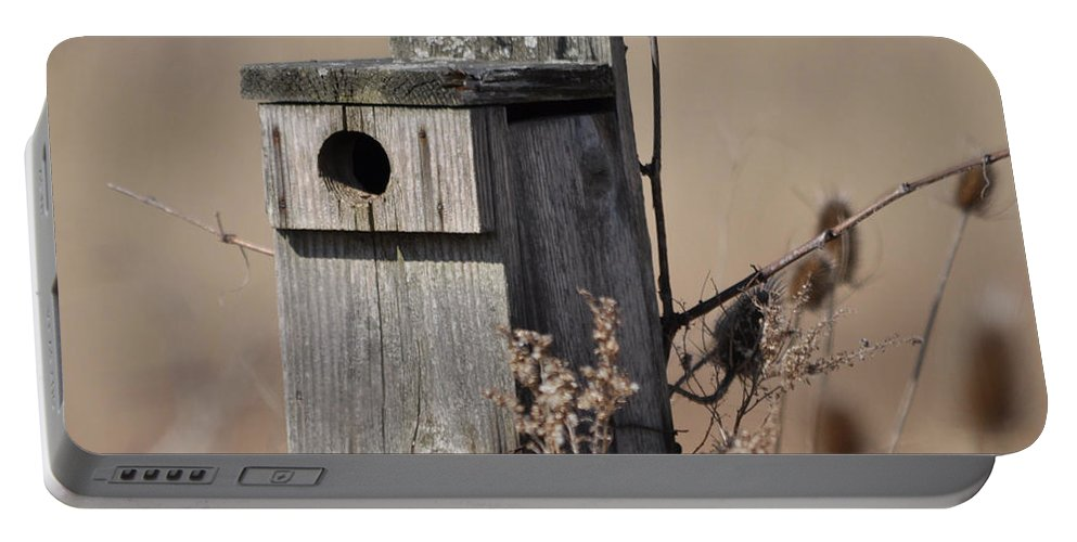 Bird House Portable Battery Charger featuring the photograph House For Rent by Ronald Grogan