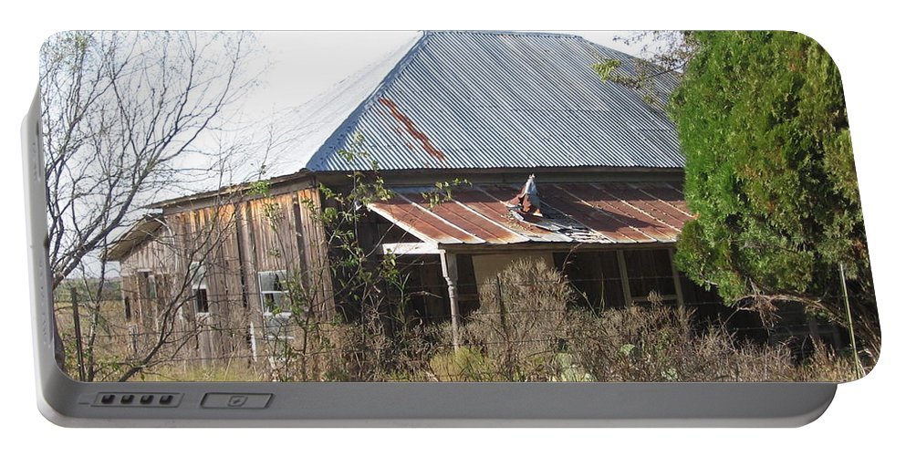 Portable Battery Charger featuring the photograph House Indian Gap Tx by Amy Hosp