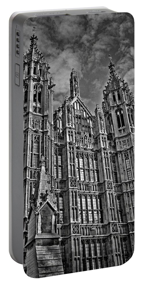 Palace Of Westminster Portable Battery Charger featuring the photograph House Of Lords by Heather Applegate