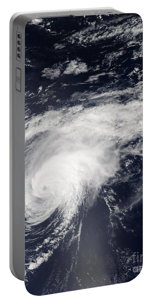 Color Image Portable Battery Charger featuring the photograph Hurricane Gordon Over The Atlantic by Stocktrek Images