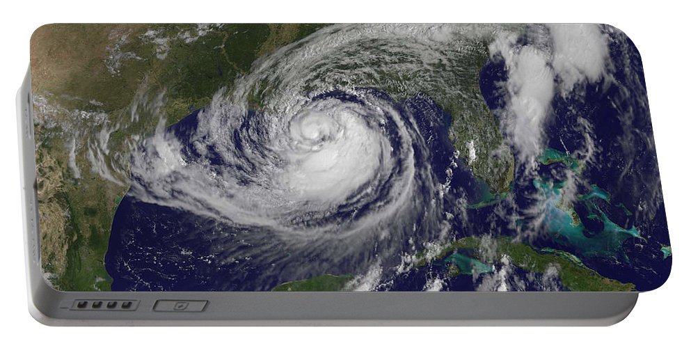 Science Portable Battery Charger featuring the photograph Hurricane Isaac In The Gulf Of Mexico by NASA GOES Project