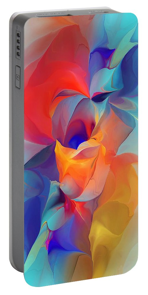 Fine Art Portable Battery Charger featuring the digital art I Am So Glad by David Lane