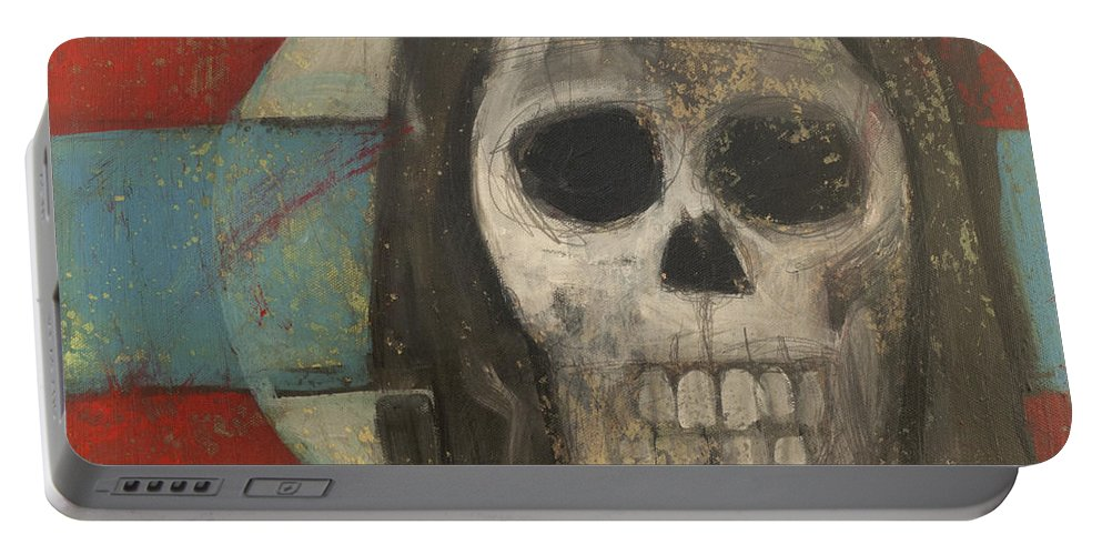 Skull Portable Battery Charger featuring the painting Icon No 9 by Tim Nyberg