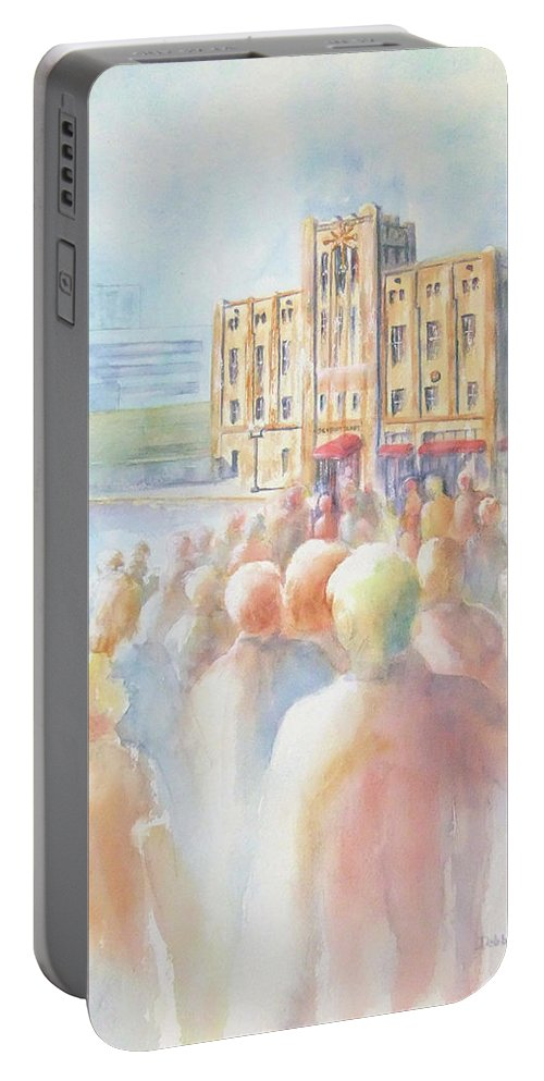Watercolor Landscape Portable Battery Charger featuring the painting Ideal Organization In Orange County by Debbie Lewis