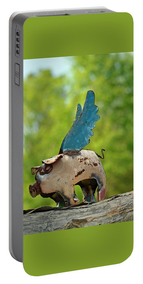 If Pigs Could Fly Portable Battery Charger featuring the photograph If Pigs Could Fly by Patricia Caldwell
