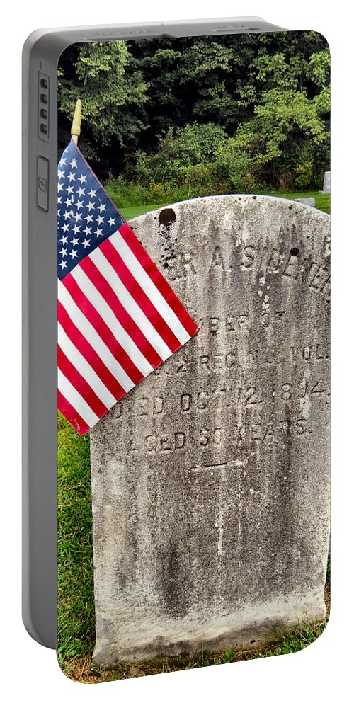 Death Portable Battery Charger featuring the photograph In Honor by Art Dingo