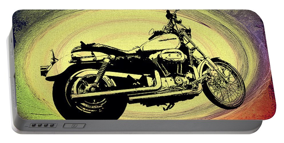 Vortex Portable Battery Charger featuring the photograph In The Vortex - Harley Davidson by Bill Cannon