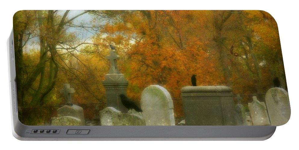 Crows Portable Battery Charger featuring the photograph In Their Glory by Gothicrow Images