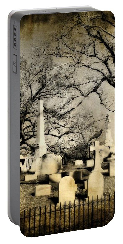 Graveyard Portable Battery Charger featuring the photograph In View by Gothicrow Images