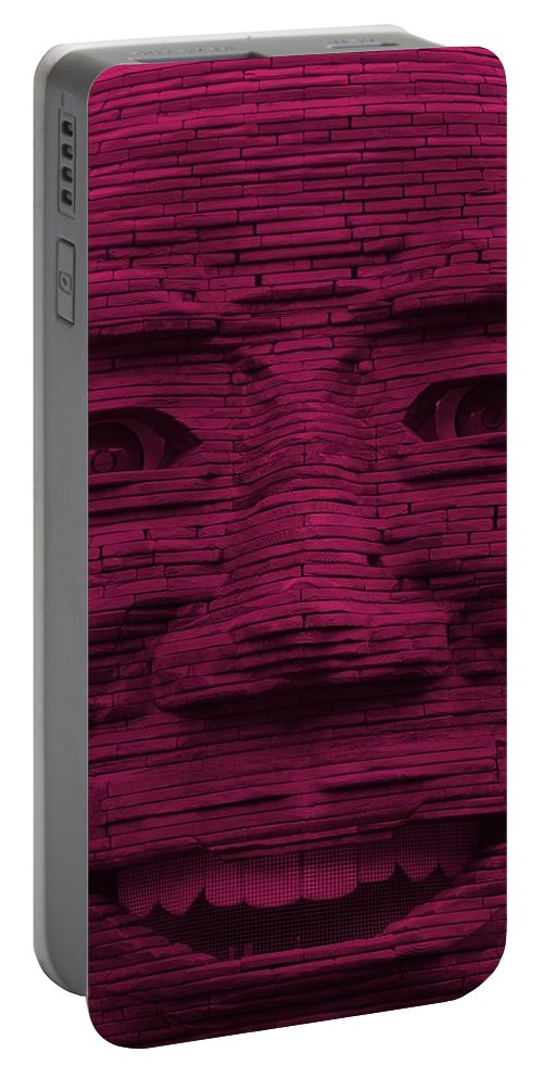 Architecture Portable Battery Charger featuring the photograph In Your Face In Hot Pink by Rob Hans