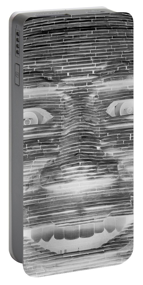 Architecture Portable Battery Charger featuring the photograph In Your Face In Neagtive by Rob Hans