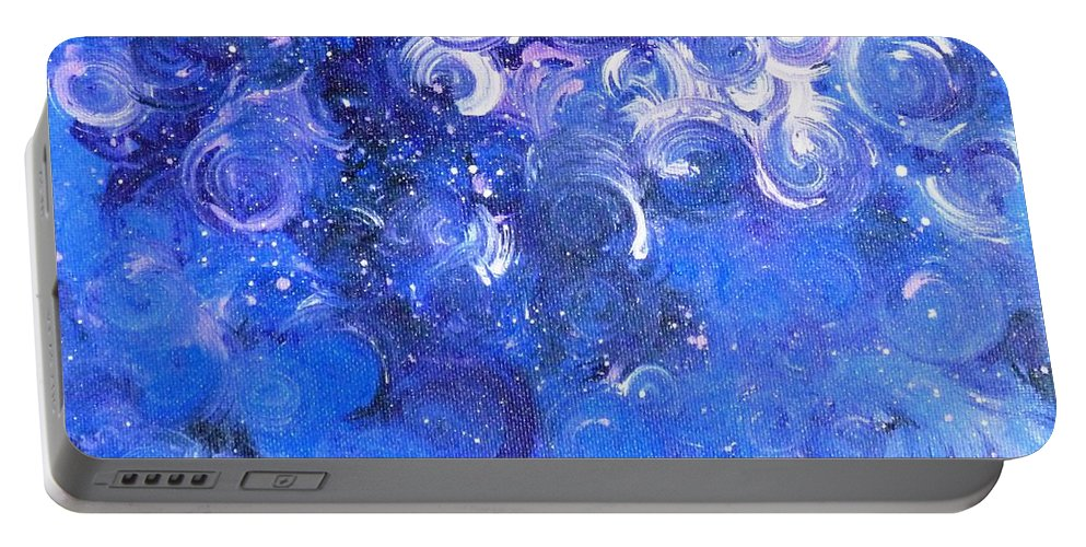 Moody Blues Portable Battery Charger featuring the painting In Your Wildest Dreams by Alys Caviness-Gober