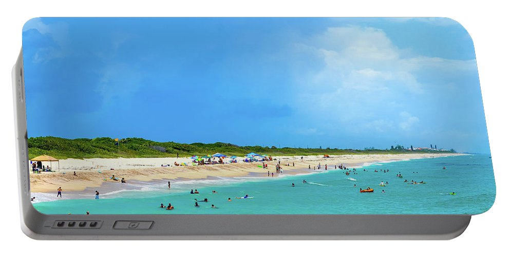 Beach Portable Battery Charger featuring the photograph Incoming Storm by Shannon Harrington