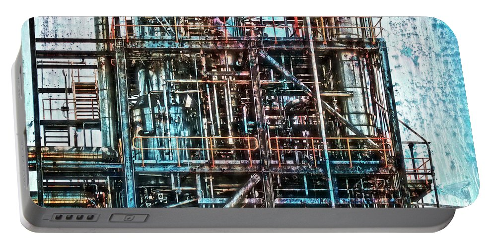 Industrial Disease Portable Battery Charger featuring the photograph Industrial Disease by Douglas Barnard