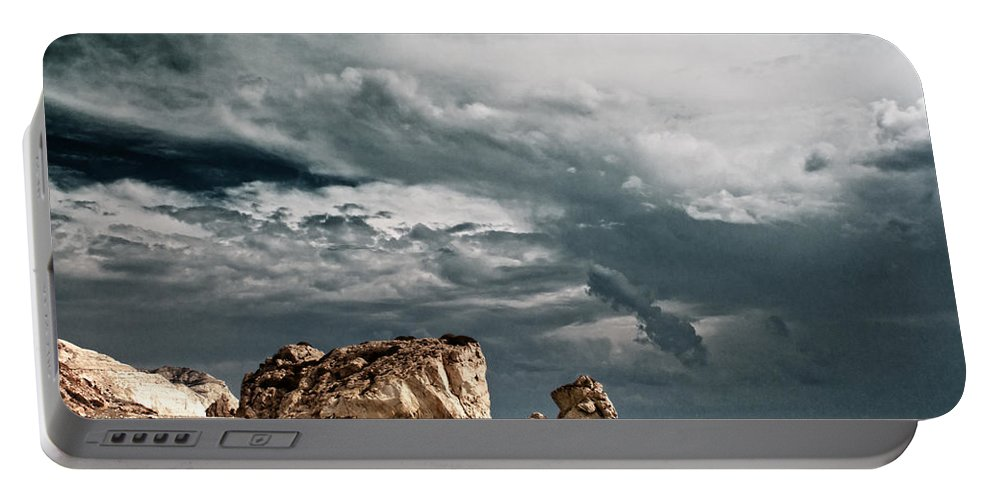 Cyprus Portable Battery Charger featuring the photograph Infrared Aphrodite Rock by Stelios Kleanthous