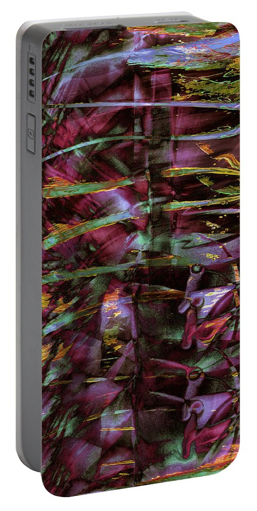 Inside Out Portable Battery Charger featuring the digital art Inside Out by Linda Sannuti