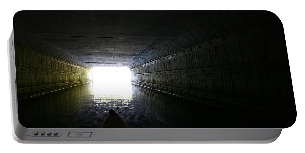 Kayak Portable Battery Charger featuring the photograph Into The Light by David Rucker