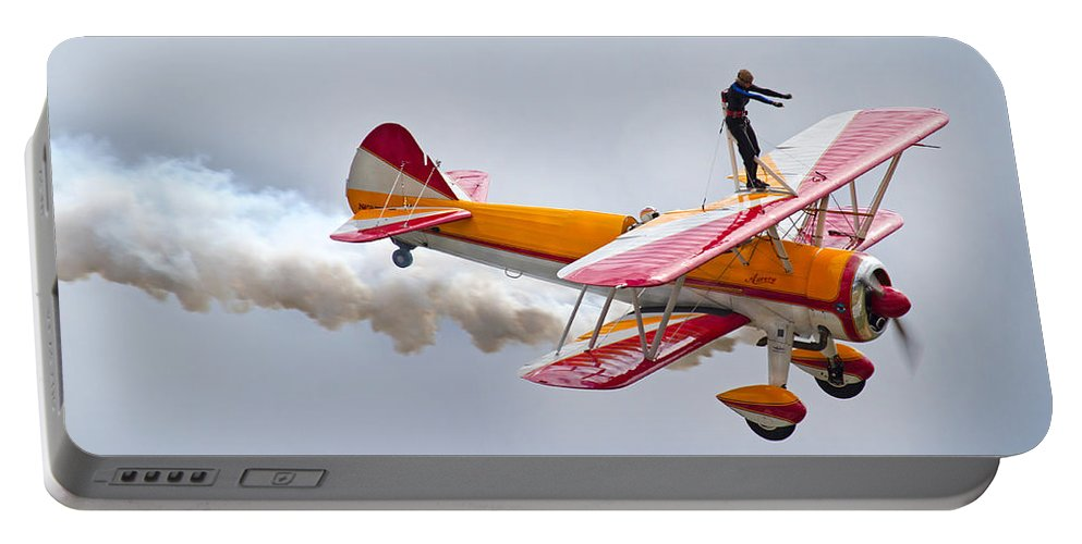 Airplane Portable Battery Charger featuring the photograph Into The Wind by Betsy Knapp