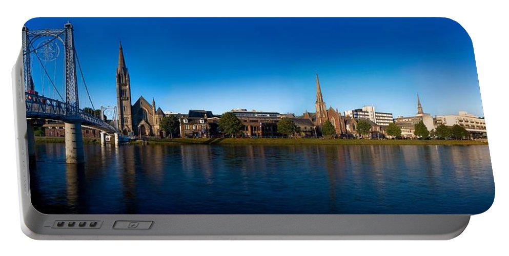 Inverness Portable Battery Charger featuring the photograph Inverness Waterfront by Joe Macrae