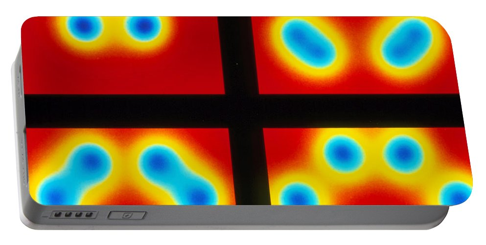 Chemical Patterns Portable Battery Charger featuring the photograph Iodine by Los Alamos National Laboratory
