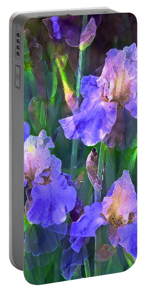 Floral Portable Battery Charger featuring the photograph Iris 51 by Pamela Cooper