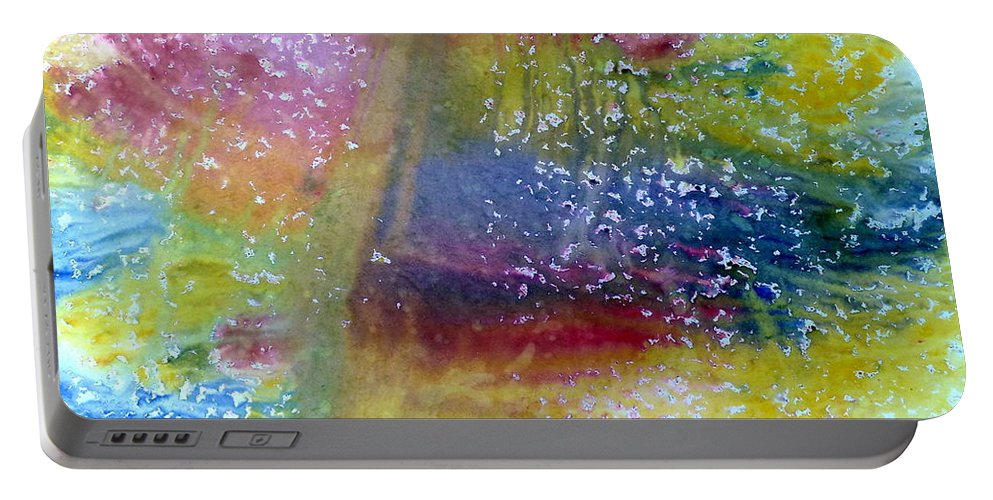 Weather Portable Battery Charger featuring the painting Irish Weather by Tis Art