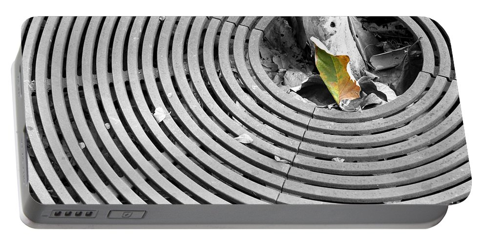 Green Portable Battery Charger featuring the photograph Iron Ripples by Alycia Christine
