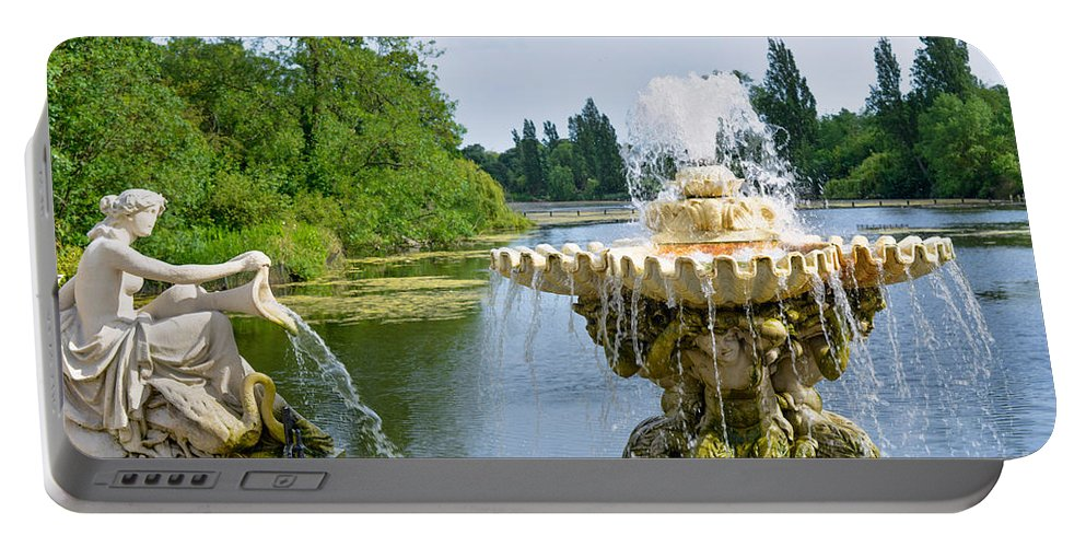 London Portable Battery Charger featuring the photograph Italian Fountain London by Andrew Michael
