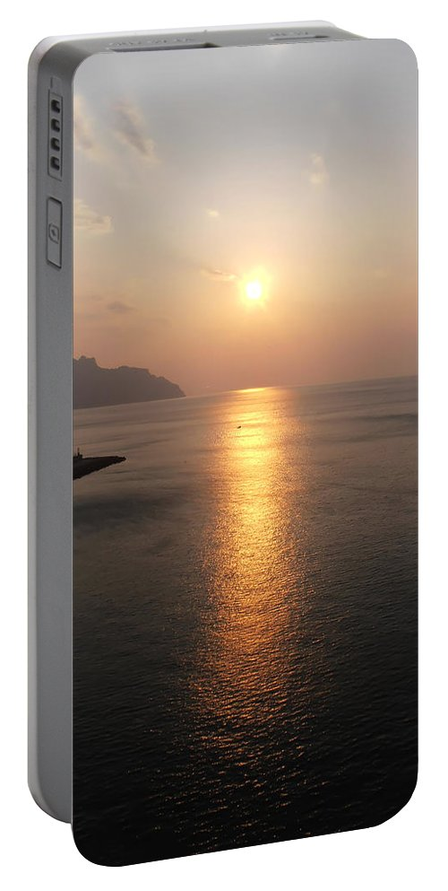 Italian Sunrise Portable Battery Charger featuring the photograph Italian Sunrise by Bill Cannon