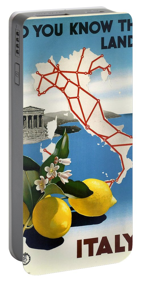 Italy Portable Battery Charger featuring the digital art Italy by Georgia Fowler