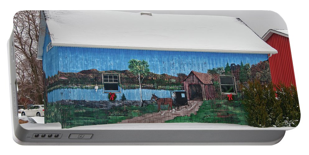 Barn Portable Battery Charger featuring the photograph Jamison Barn by Guy Whiteley
