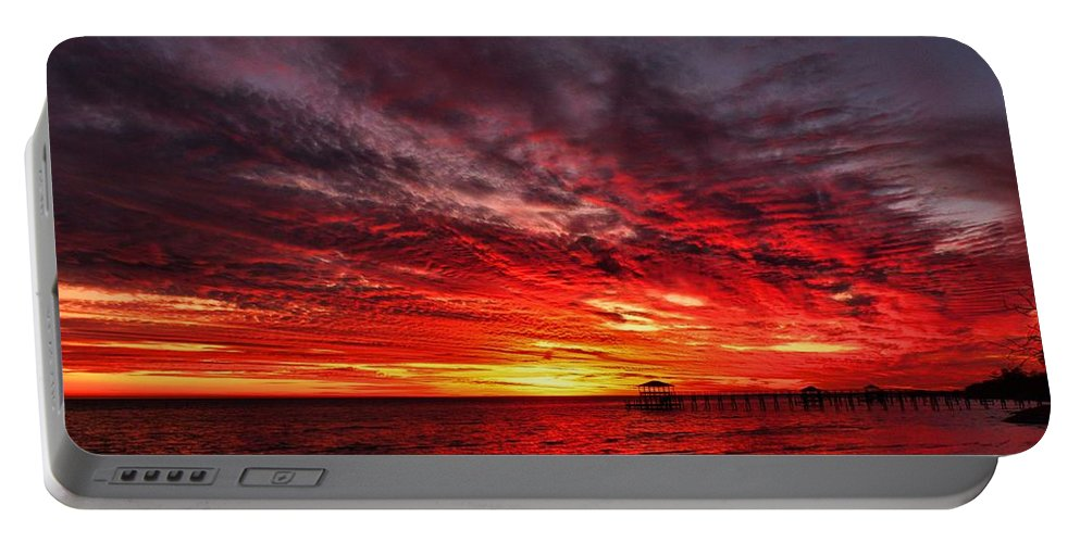 Sunset Portable Battery Charger featuring the photograph January Sunset by Anthony Walker Sr