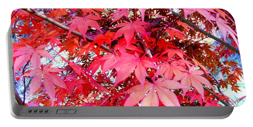 Fall Portable Battery Charger featuring the photograph Japanese Maple Leaves 11 In The Fall by Duane McCullough