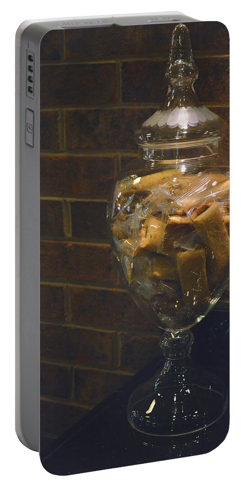 Biscotti Portable Battery Charger featuring the photograph Jar Of Biscotti by Sandi OReilly