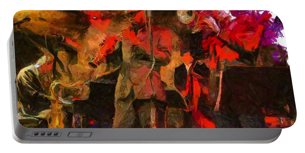 Jazz Portable Battery Charger featuring the painting Jazz by Lynne Jenkins
