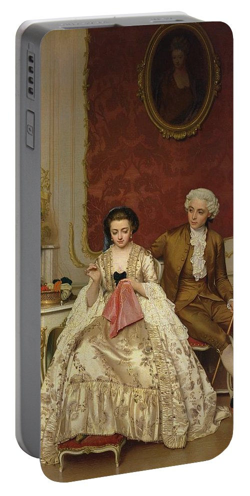 Jealousy Portable Battery Charger featuring the painting Jealousy by PRH Knarren