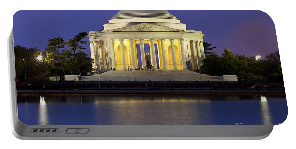 Thomas Jefferson Portable Battery Charger featuring the photograph Jefferson Memorial by Brian Jannsen