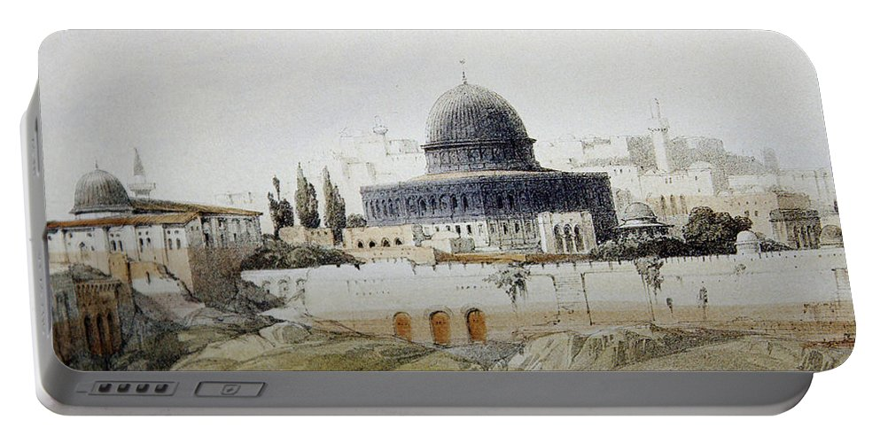 Jerusalem Portable Battery Charger featuring the photograph Jerusalem Close Up by Munir Alawi