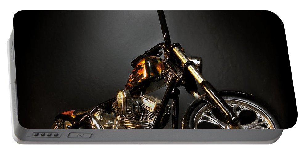 Portable Battery Charger featuring the photograph Jesse James Bike 2 Detroit MI by Nicholas Grunas